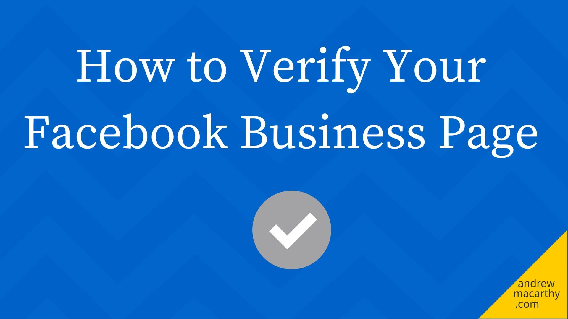 Làm thế nào để xác thực Verified trên Facebook - dấu check Xám