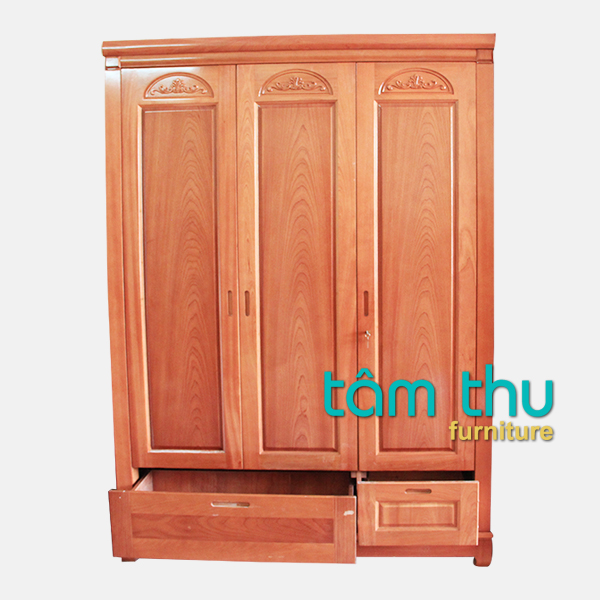 Tủ quần áo gỗ tự nhiên bằng xoan đào