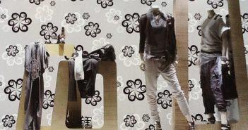 10 cách trang trí shop thời trang bằng giấy dán tường