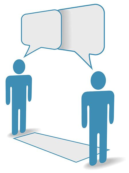 Biểu hiện của khoảng cách giữa hai người khi thực hiện giao tiếp