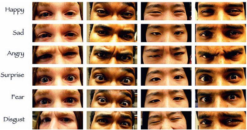 Đôi mắt là nơi rất dễ thể hiện cảm xúc trên khuôn mặt