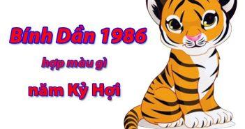 Tuổi Bính Dần 1986 hợp với màu gì để đón nhiều may mắn