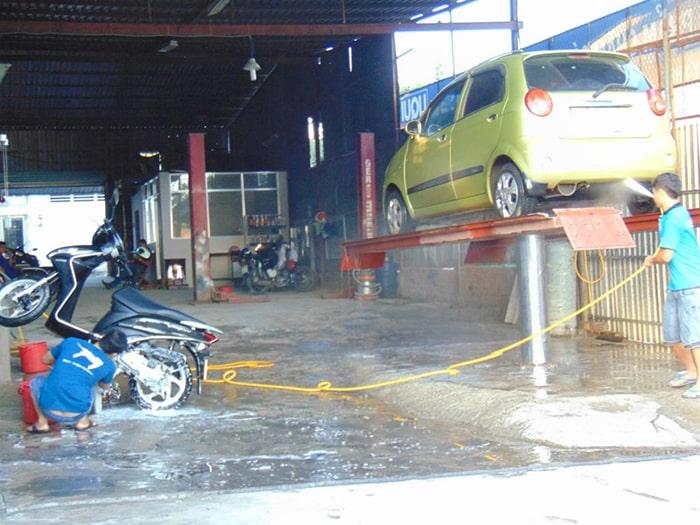 Đầu tư mặt bằng cửa hàng rửa xe