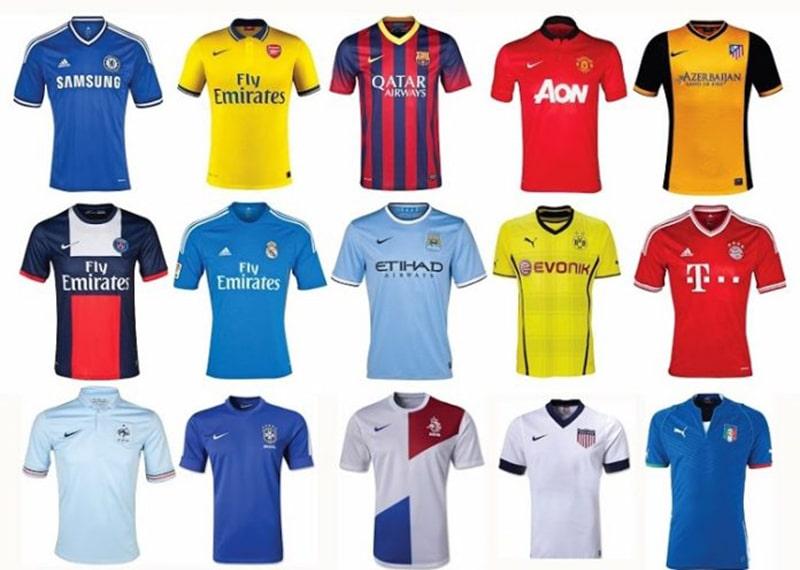 Một số mẫu quần áo bóng đá đẹp