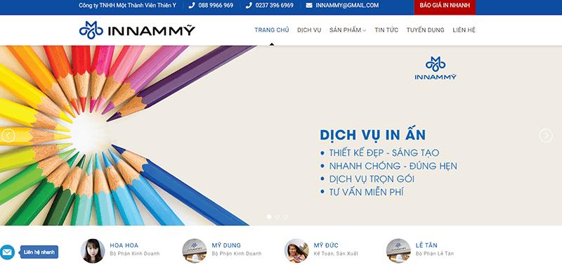 Website công ty In Nam Mỹ