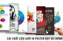 Lựa chọn các chất liệu giấy in poster đẹp và chính xác