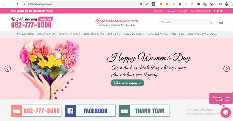 Giaohoatoanquoc.com là một website thương mại điện tử hỗ trợ dịch vụ đặt hoa và giao hoa