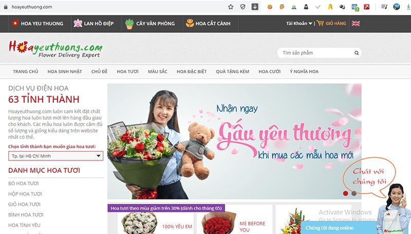 Hoayeuthuong.com là ebsite cung cấp dịch vụ điện hoa chuyên nghiệp, uy tín